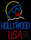 Hollywood USA Neon Sign