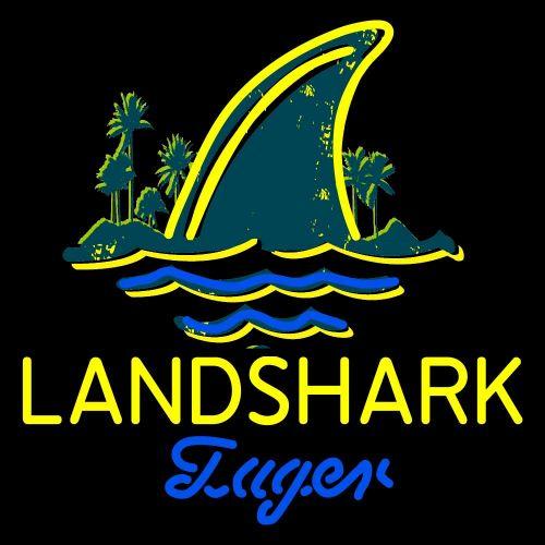 Jimmy Buffett Landshark Lager Beer Neon Sign