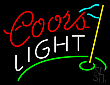 Coors Light Golf Neon Sign Beer Neon Signs Every Thing