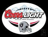 Coors Light Oakland Raiders Beer 2009 version Neon Sign