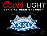 Coors Light Superbowl 39 Beer Neon Sign