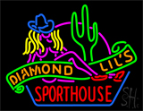 Sexy Diamond Lils Sporthouse Las Vegas Neon Sign