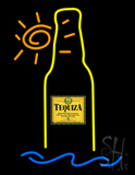 Tequiza Tropical Sun Bottle Neon Sign