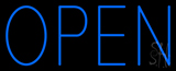 Open Blue Neon Sign
