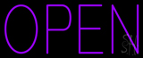 Open Purple Neon Sign