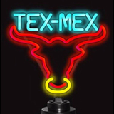 Tex-Mex Bull Neon Sculpture