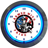 Armed With Pride Firearms 15 Inch Neon Clock