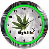 High Life 15 Inch Neon Clock
