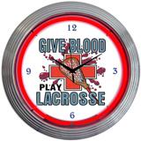 Lacrosse 15 Inch Neon Clock