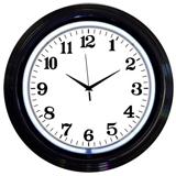 Black Rim White Standard 15 Inch Neon Clock
