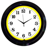 Black Rim Yellow Standard 15 Inch Neon Clock