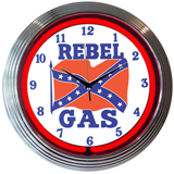 Rebel Gas 15 Inch Neon Clock