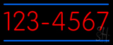 Custom - Phone - Double Line 6 Numbers Neon Sign