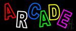 Double Stroke Multicolored Arcade Neon Sign