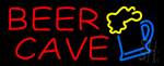 Red Beer Cave Neon Sign
