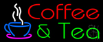 Red Coffee & Green Tea Neon Sign