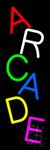 Vertical Multicolored Arcade Neon Sign