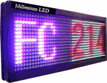 Semi-outdoor Tri-color Led Window Sign P10_32x64dots solution