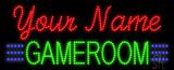 Custom Green Gameroom Led Sign