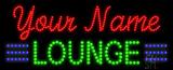 Custom Green Lounge Led Sign