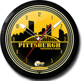 Pittsburgh Pride 20 Inch Neon Clock