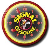 Signal Gasoline 20 Inch Neon Clock