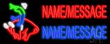 Custom Bull Rider Logo Neon Sign
