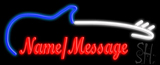 Custom With Guitar Neon Sign