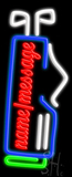 Custom Golf Bag Neon Sign
