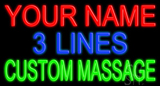 Custom Green Massage Neon Sign
