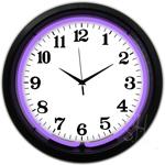 Black Rim Purple Standard 15 Inch Neon Clock