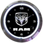 Ram 15 Inch Neon Clock