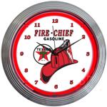 Texaco Fire Chief 15 Inch Neon Clock