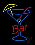 Bar In Between Martini Glass Neon Sign