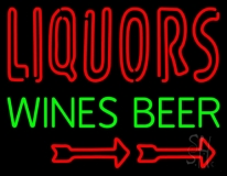 Liquors Wines Beer Neon Sign