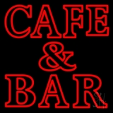 Red Cafe and Bar Neon Sign