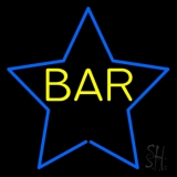 Yellow Bar Inside Blue Star Neon Sign