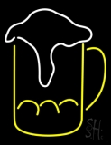Overflowing Beer Mug Neon Sign