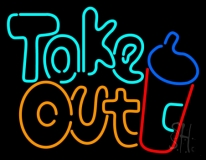 Take Out / Take Away Neon Signs