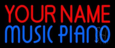Custom Blue Music Piano Neon Sign