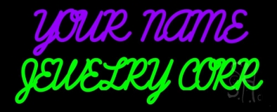 Custom Jewelry Green Neon Sign