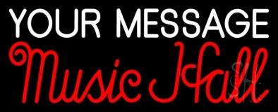 Custom Music Hall Red Neon Sign
