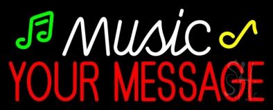 Custom Music Note Neon Sign