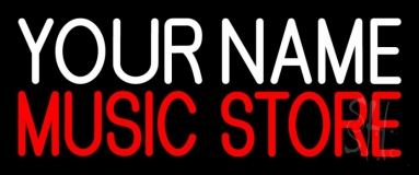 Custom Music Store Red Neon Sign