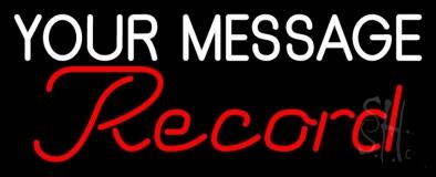 Custom Red Cursive Records Neon Sign