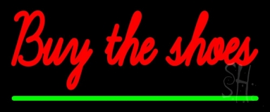 Red Buy The Shoes Neon Sign
