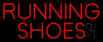 Running Shoes Neon Sign