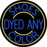 Shoes Dyed And Color With Yellow Border Neon Sign