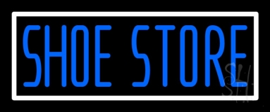 Shoe Store With Border Neon Sign