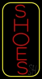 Vertical Shoes Border Neon Sign